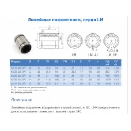 Втулка шариковая LM16