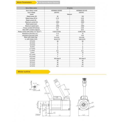 Серводвигатель 40DNMA2-0D10DIAK