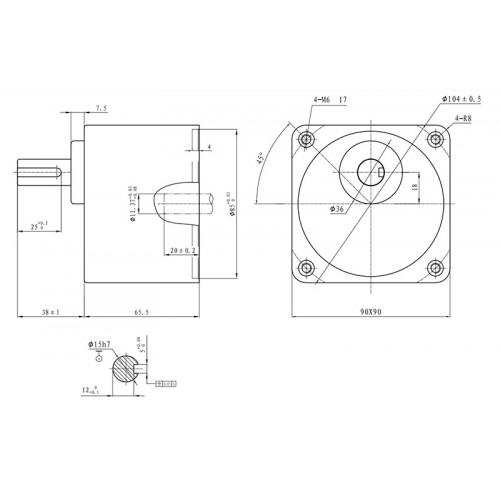 Цилиндрический Редуктор 86мм 5GU50KB (1:50)