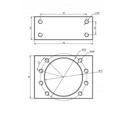 Модуль крепления гайки DSG50H (сталь)