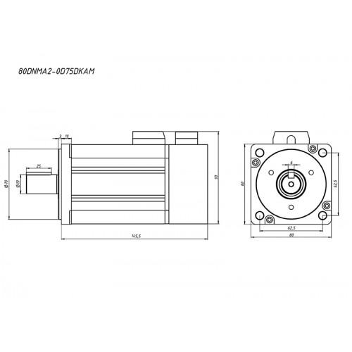 Серводвигатель 80DNMA2-0D75DKAM