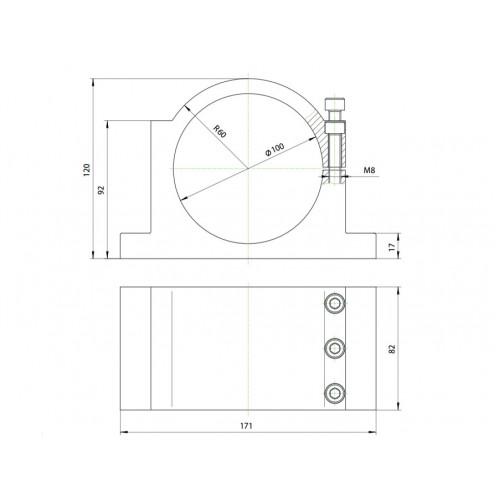 Кронштейн (держатель) для шпинделя 100 мм