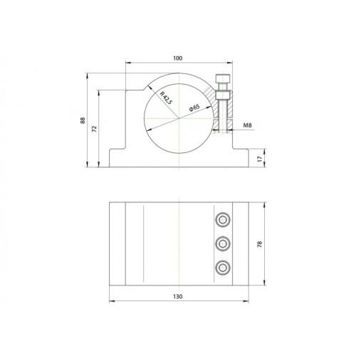 Кронштейн (держатель) шпинделя 65 мм