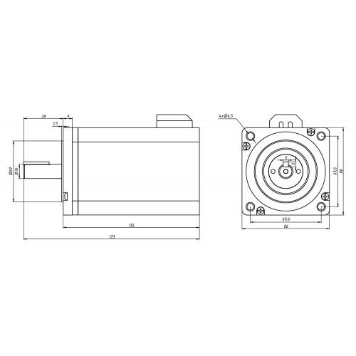 ШД с энкодером YK286EC118A1
