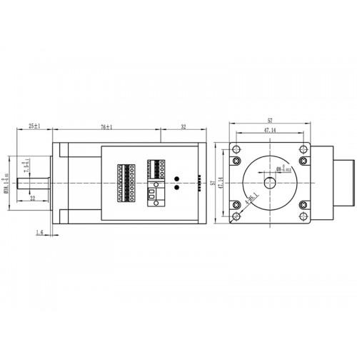 Шаговый двигатель JSS57P2N