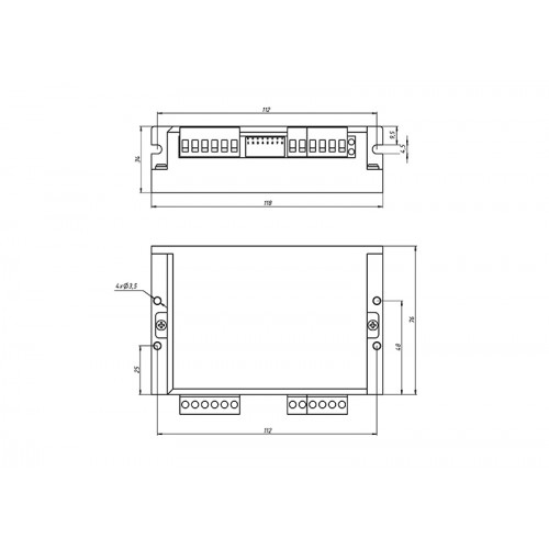 Одноканальный драйвер для 3-х фазных ШД 3DM580