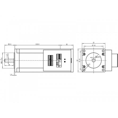 Шаговый двигатель JSS57P3N
