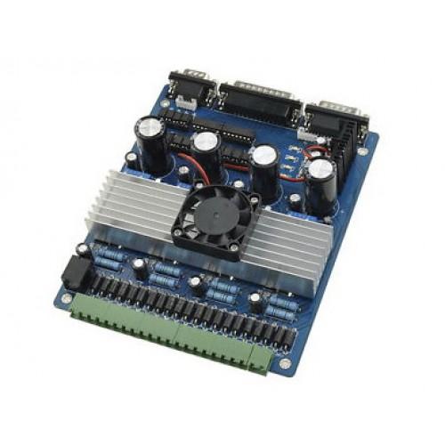 Многоканальный драйвер шаговых двигателей, 4-ех осевой TB6560 4axis Blue