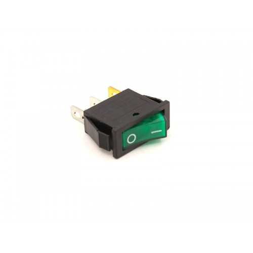 Переключатель ON-OFF KCD3-102/N (зелёный)