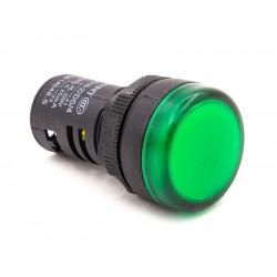 Световой индикатор зеленый 220В 22мм