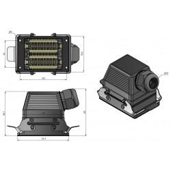 Разъем HDC-HE-016-032(F-M)(16A,500V,6kV,3)