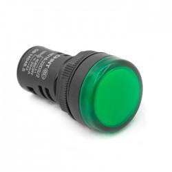 Световой индикатор зеленый 24В 22мм